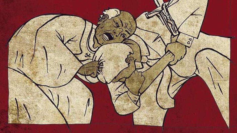 Spor o církevní majetek, Ilustrační kresba