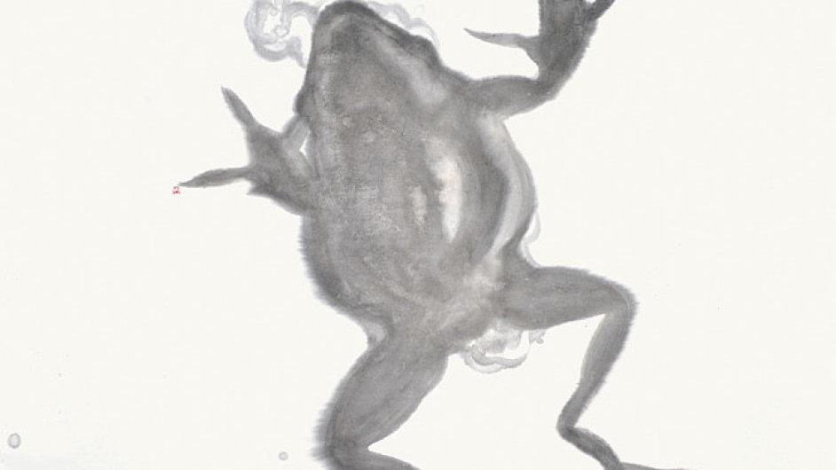 Reprodukce z výstavy Jiřího Straky v Galerii Václava Špály