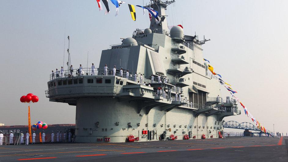 První letadlovou loď pořídila Čína od Ukrajiny v roce 2012.