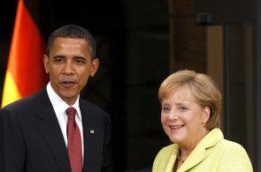 Ilustrace: Obama, Merkelová
