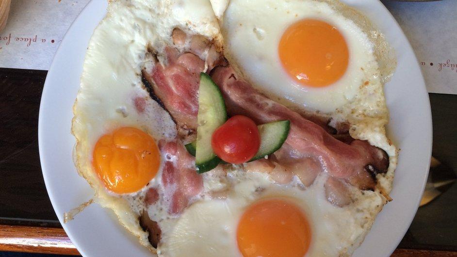 Pečená slanina s vejci