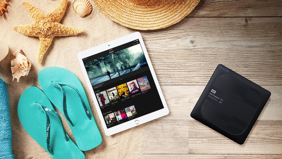 WD Passport Wireless pro poslouží i jako multimediální server
