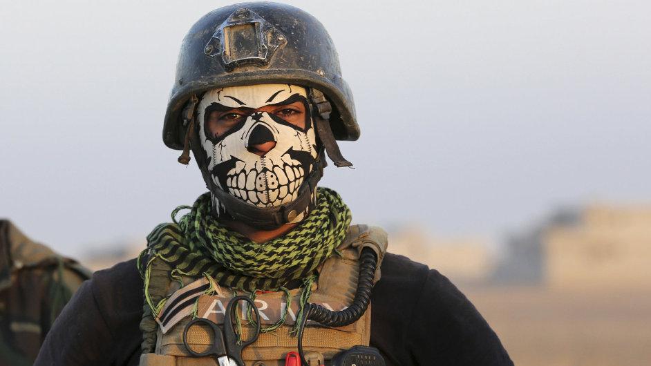 Člen iráckých elitních protiteroristických sil.