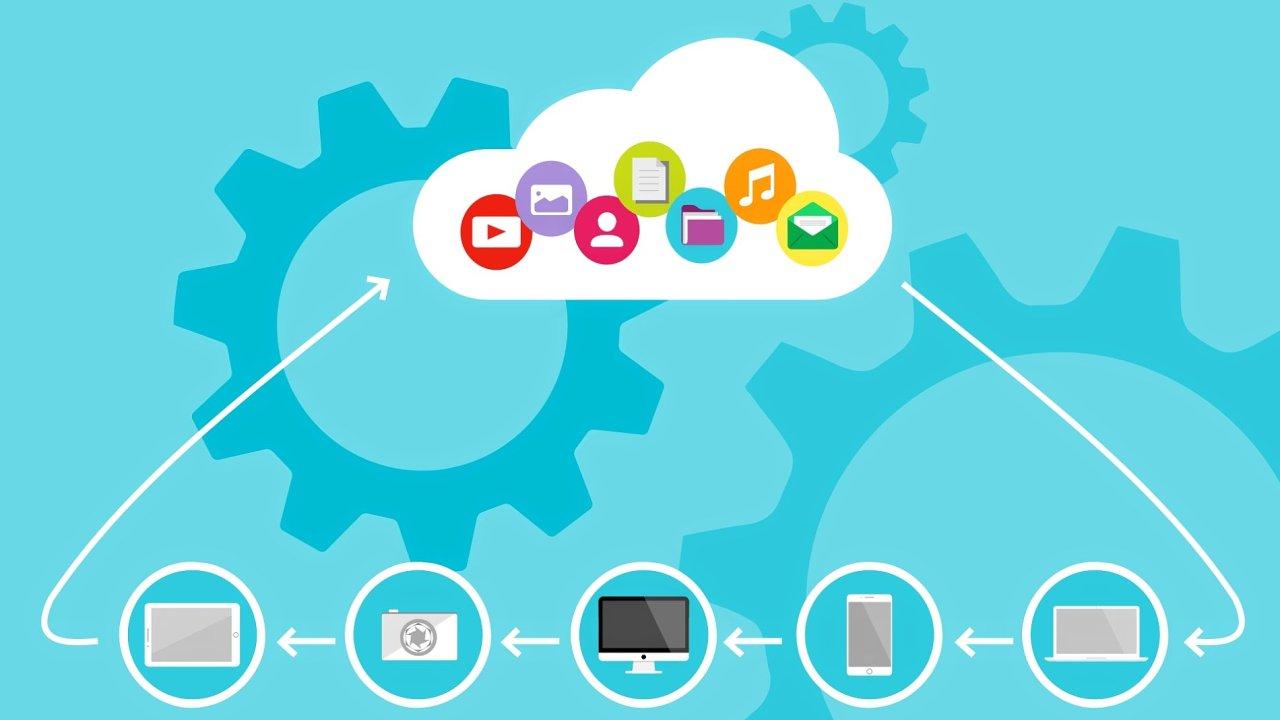 cloud computing, ilustrace