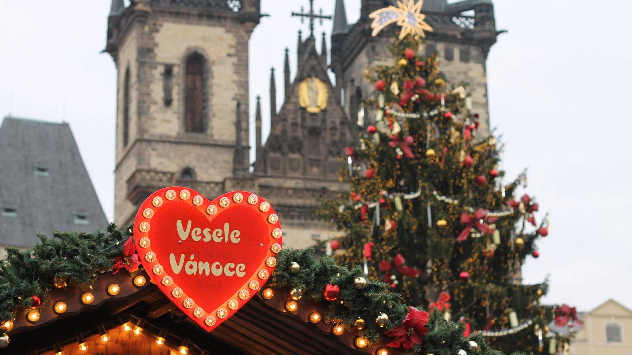 Vánoce na Staroměstském náměstí v Praze
