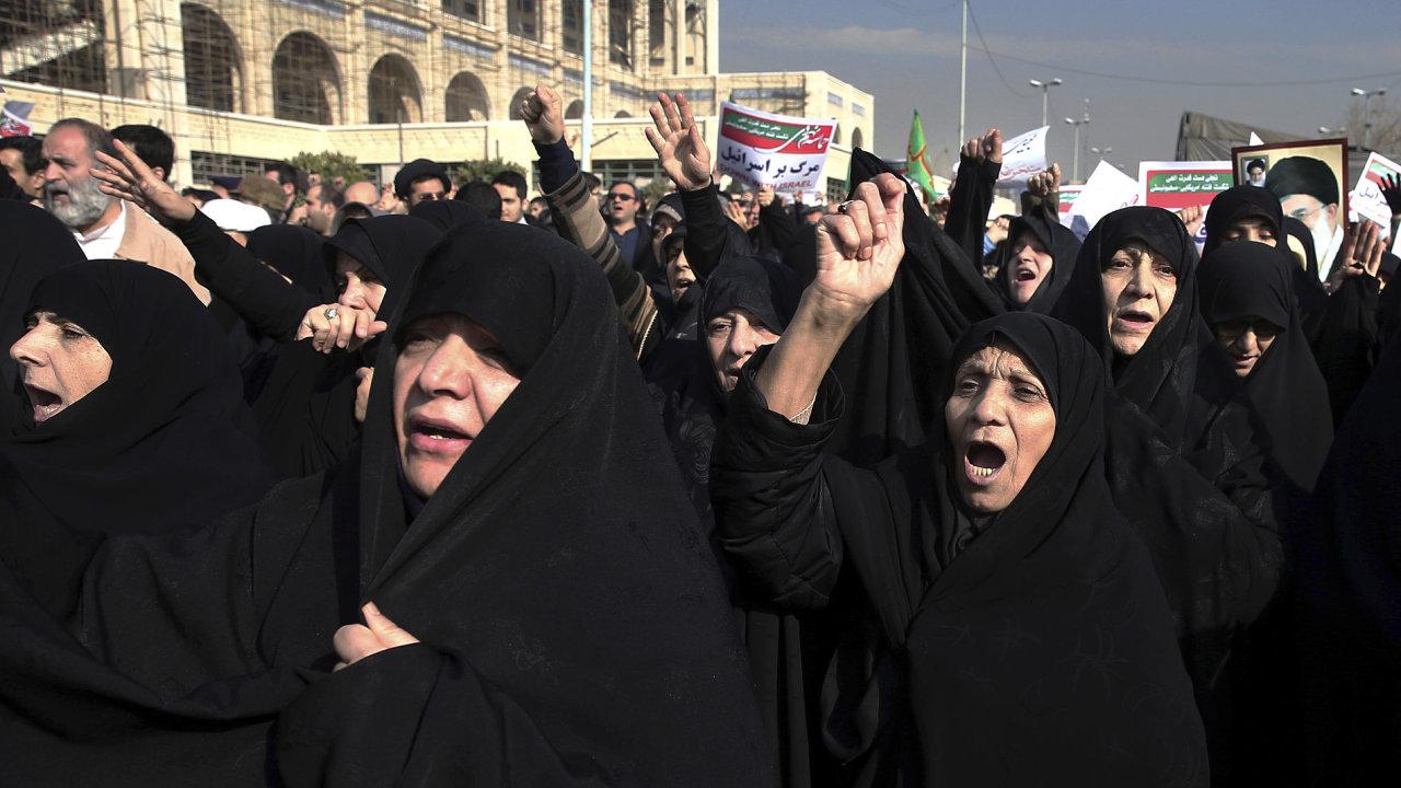 Írán, protesty