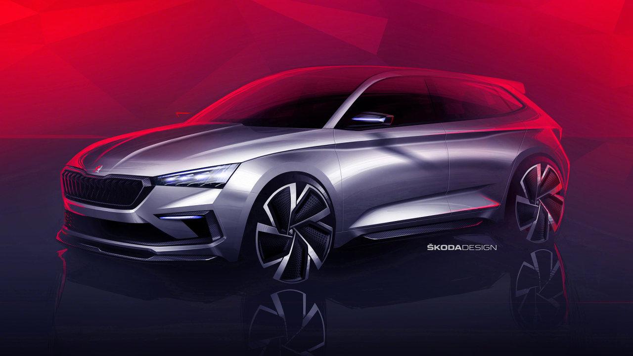 Škoda Auto zveřejnila dvě skici plánovaného konceptu Vision RS.