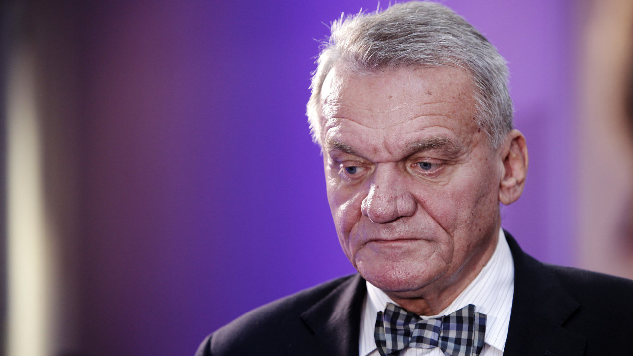 Bohuslav Svoboda ve volebním štábu ODS.