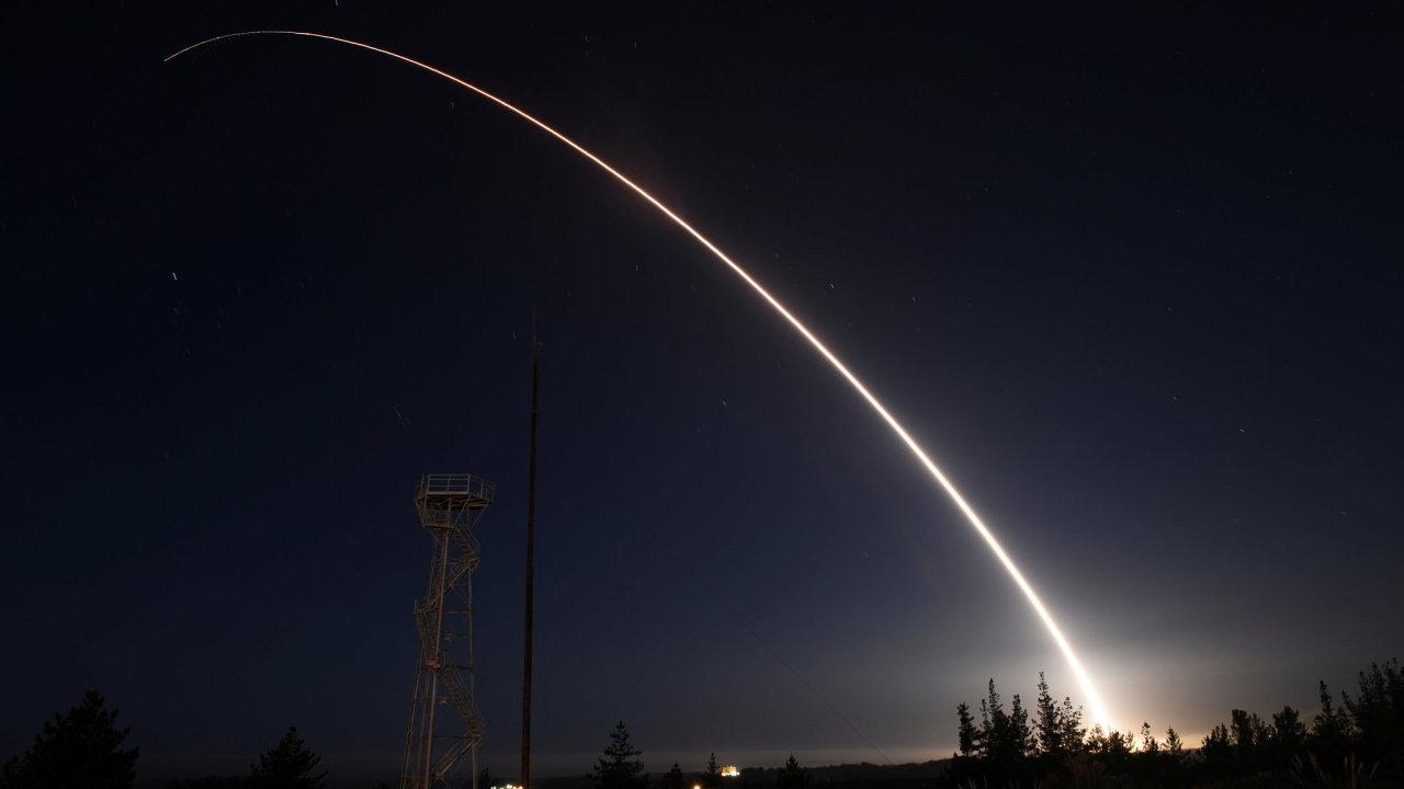 Test mezikontinentální rakety Minuteman III v Kalifornii. - Ilustrační foto