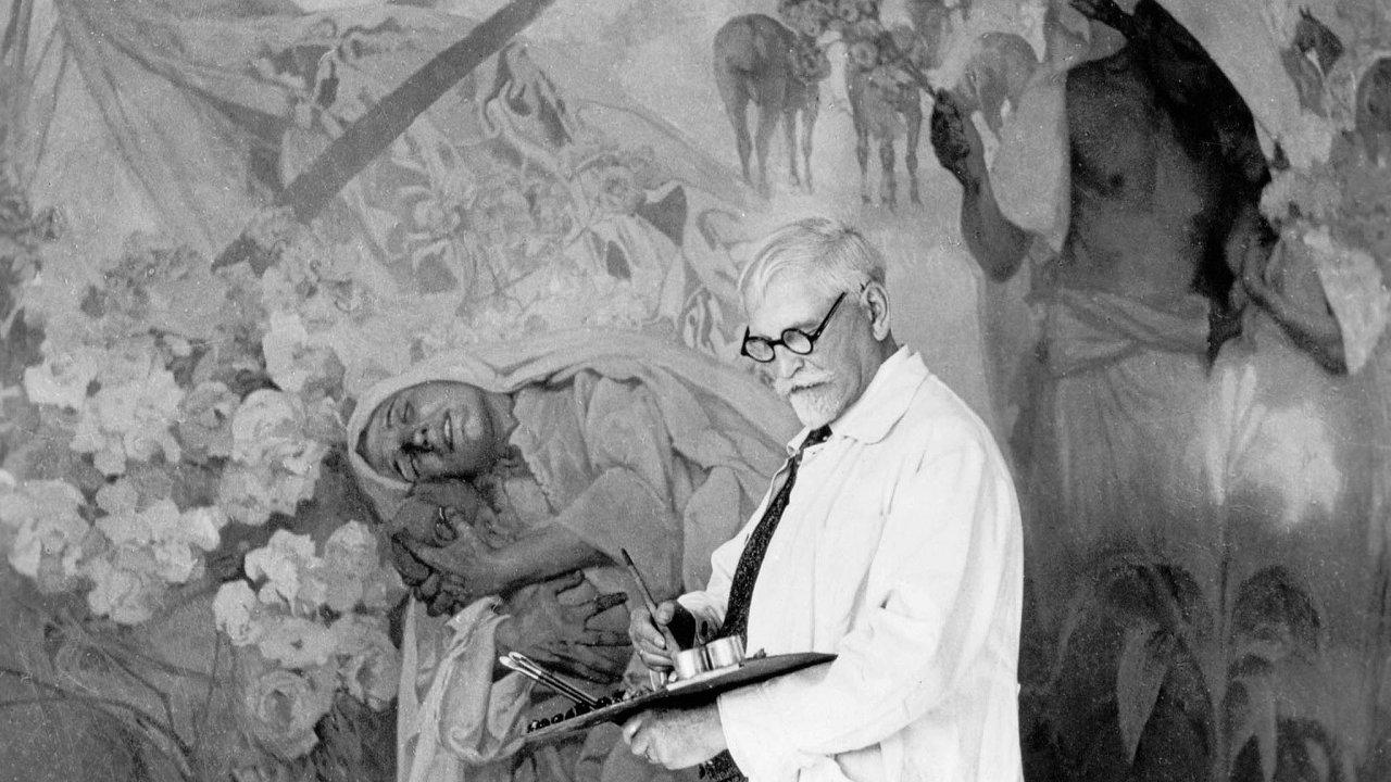 Alfons Mucha na věčnosti stále čeká, až Praha vybuduje důstojnou galerii pro jeho Slovanskou epopej.