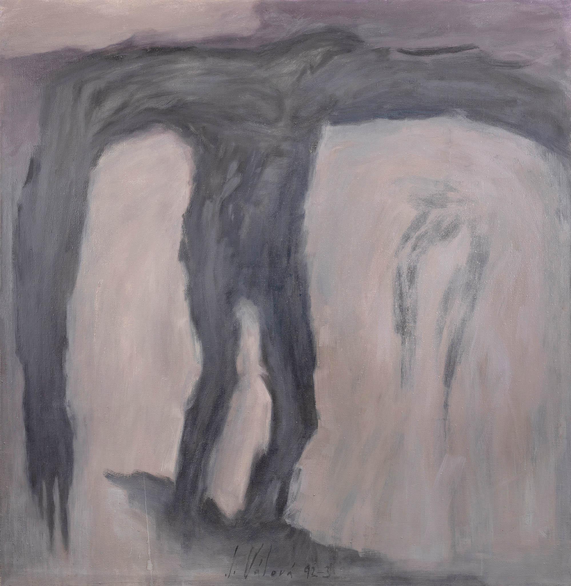 Jitka Válová: Kalvárie, olej, plátno, 210 x 200 centimetrů, 1992/1993