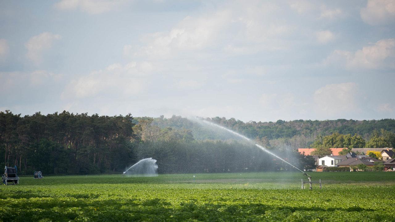 Pole jako místo špinění vody. Pole potřebují závlahu, ale voda není kvalitní. Znečišťují ji právě chemické látky, jimiž se plodiny postřikují proti škůdcům a plísním.