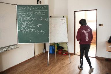 Jak na to. Jeden zposledních workshopů Konsentu před nástupem pandemie se uskutečnil nastřední škole vKladrubech.