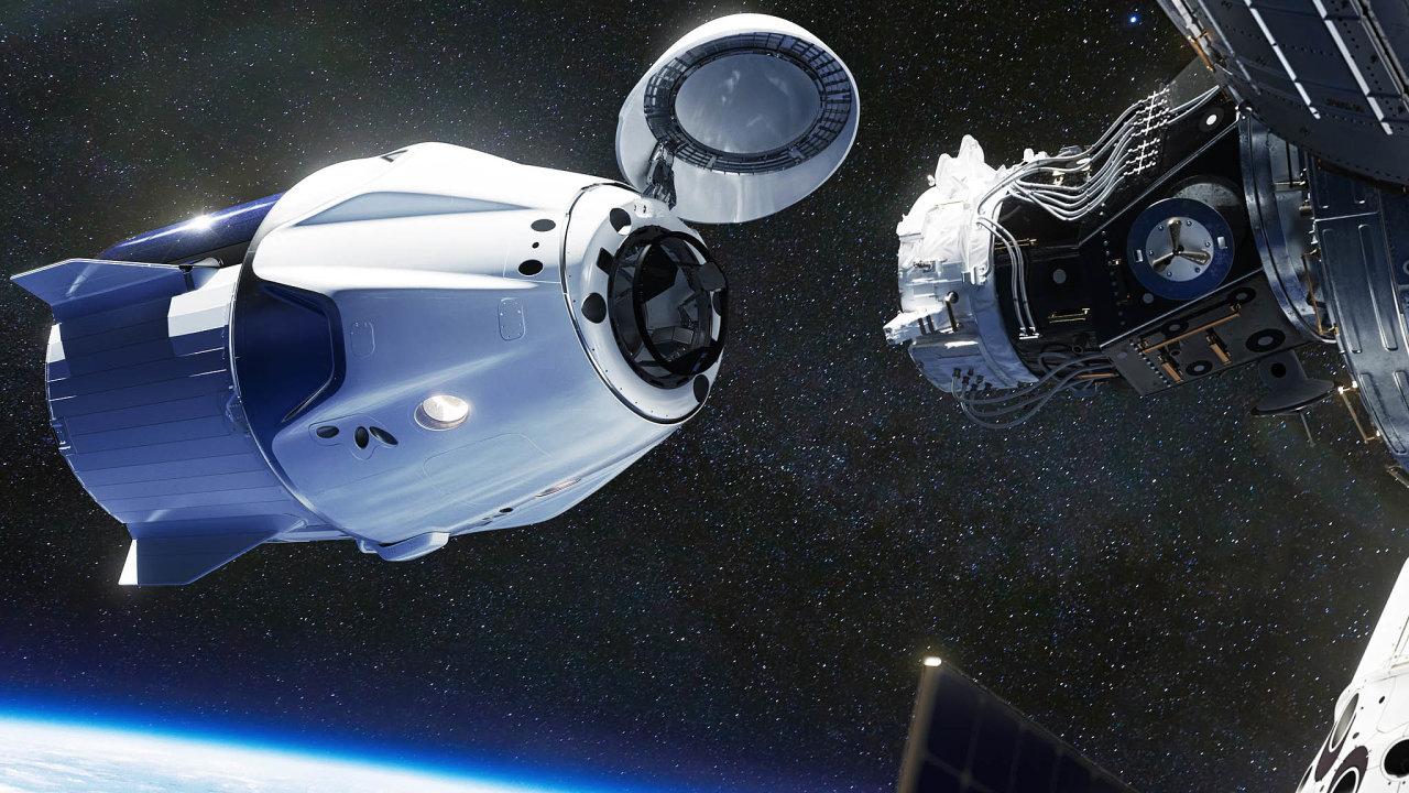 Firma SpaceX Elona Muska už kMezinárodní vesmírné stanici dopravila dva astronauty NASA. Teď chystá výpravu dalších čtyř kosmonautů. Tři budou zUSA, jeden zJaponska.