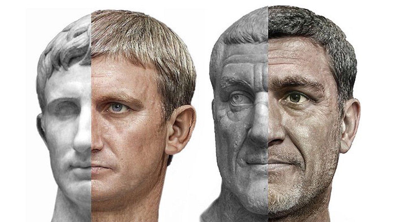 Císaři Augustus a Maxinimus Thrax