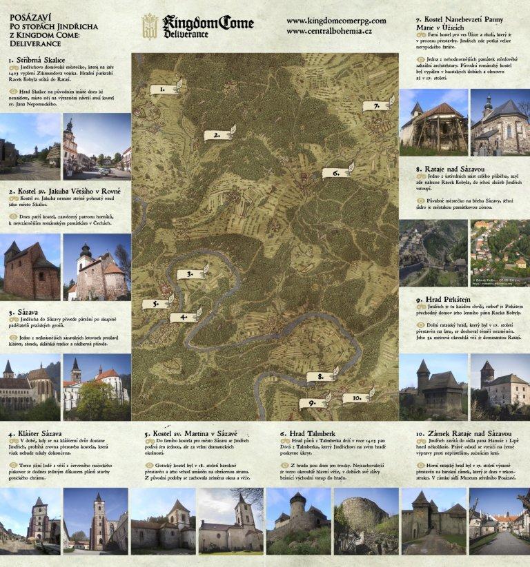 Mapa pro procházku po stopách Kingdom Come: Deliverance