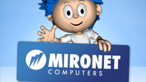 Logo prodejce výpočetní techniky Mironet