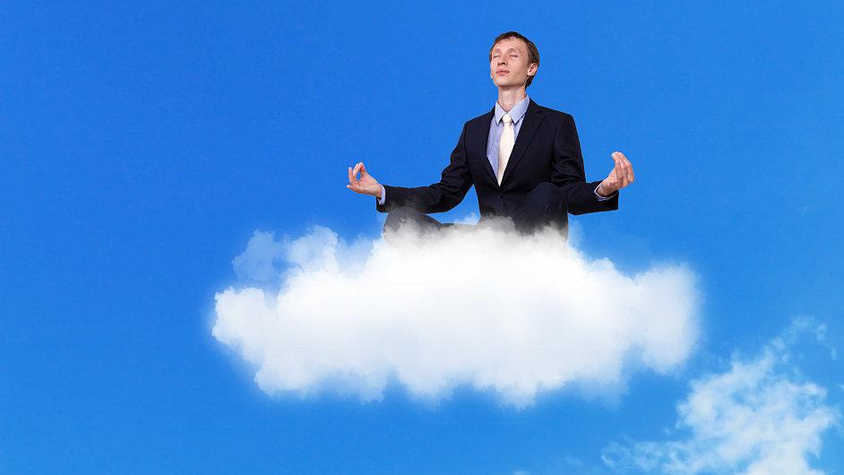 Manažer, obláček, cloud. Ilustrační foto