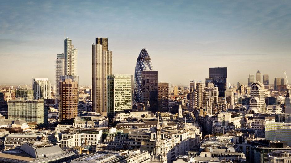 Londýnská City, jedno z hlavních světových finančních center.