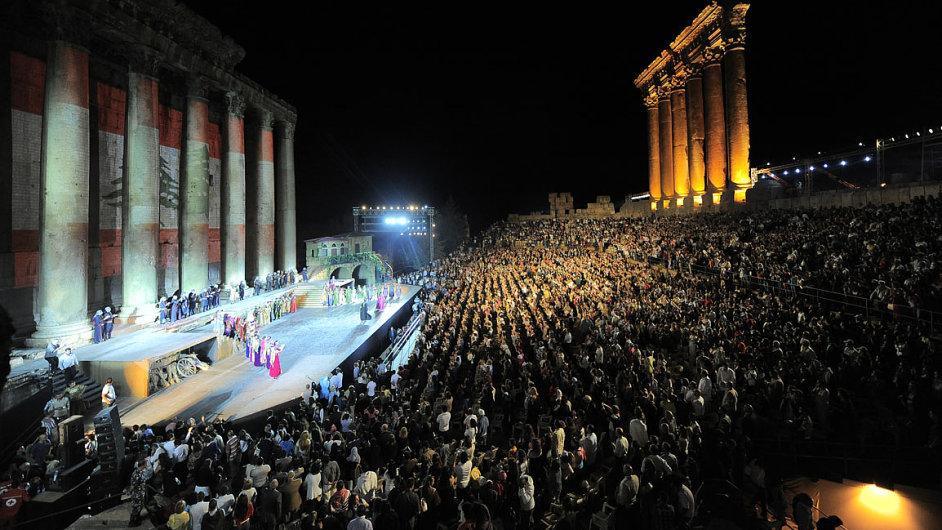 Snímky z posledního ročníku festivalu v libanonském Baalbeku