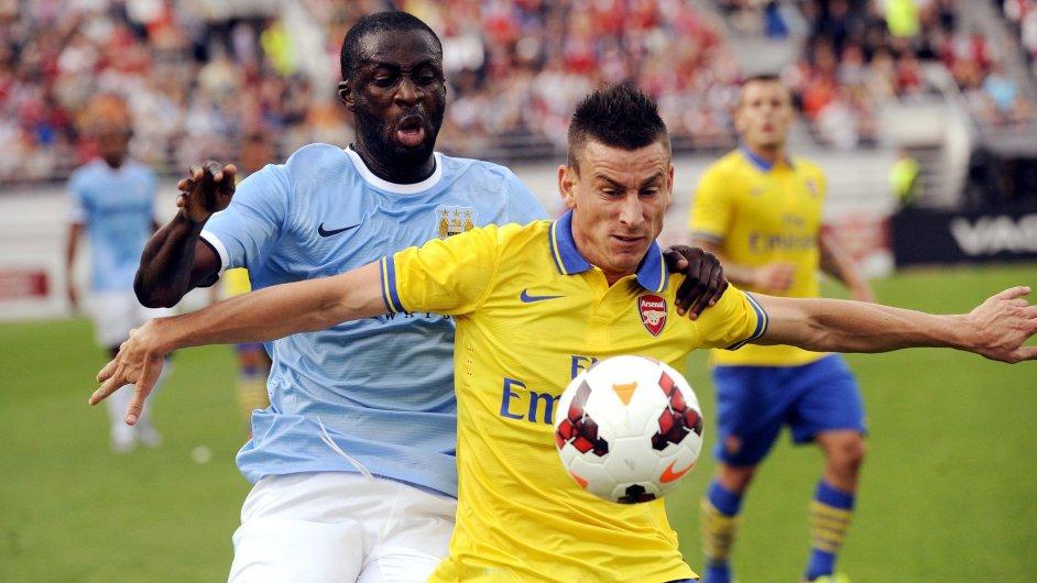 Přípravný zápas mezi Manchester City a Arsenalem.