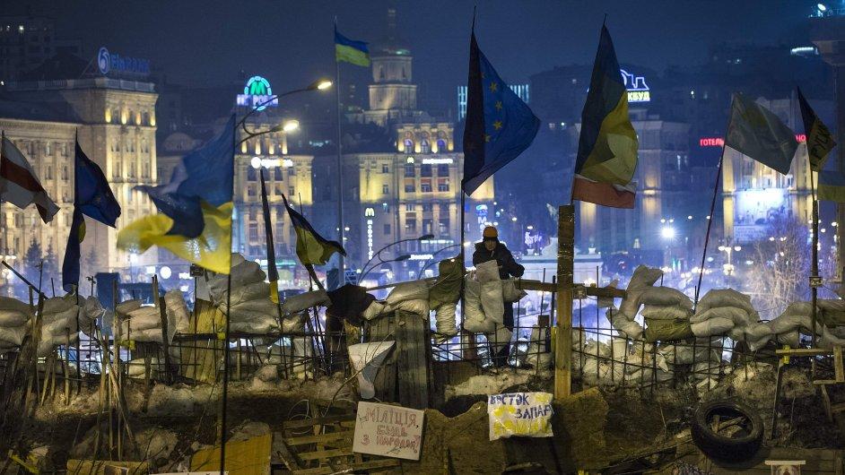 Demonstrace v Kyjevě.