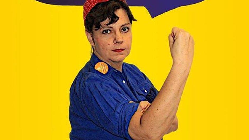 V předvolební kampani ministryně na svém Facebooku použila plakát odkazující na feministický symbol Rosie The Riveter