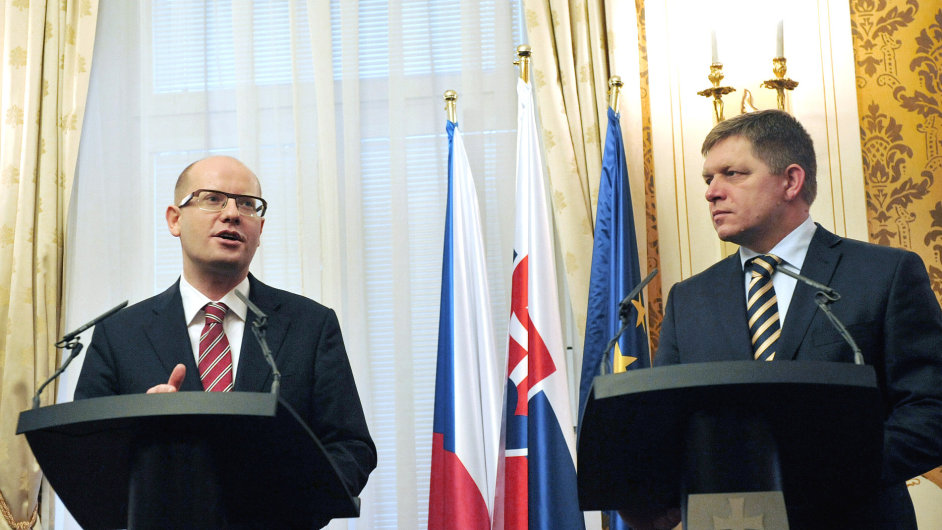 Bohuslav Sobotka na návštěvě Slovenska.