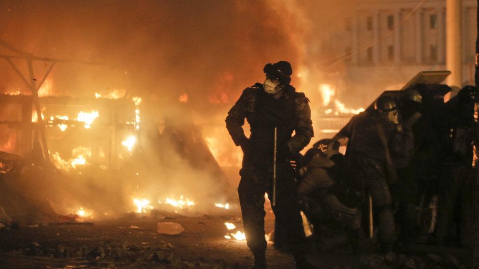 Krvavé nepokoje v Kyjevě.