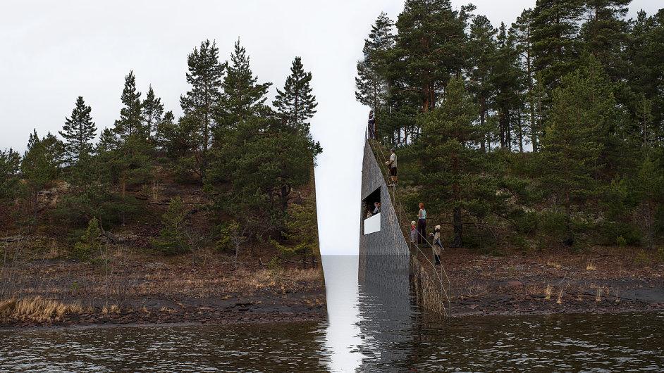 Památník na ostrově Utöya