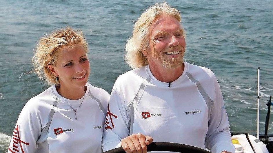 Richard Branson a jeho dcera Holly na lodi