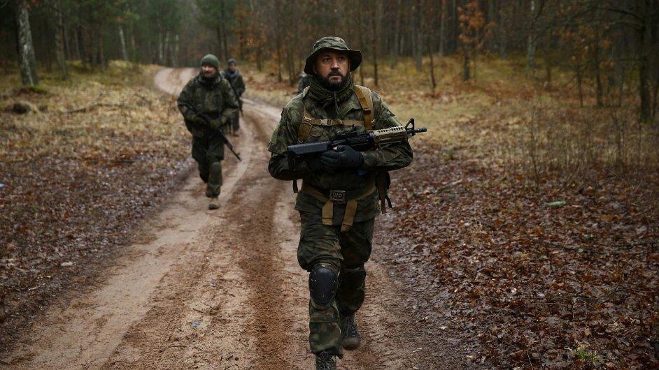 Trénink polské polovojenské skupiny, ilustrační foto.