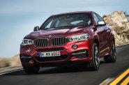 BMW X6 je t�k� rozeznat od minul�ho modelu. Napov� nap��klad nov� p��� s v�t��mi sv�tly i maskou chladi�e.