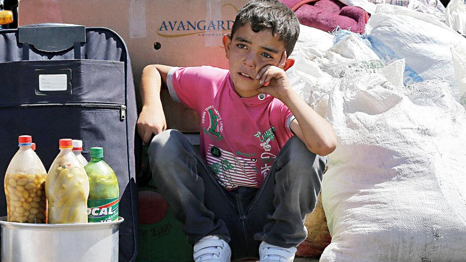 Syrský uprchlík na turecké hranici - ilustrační foto