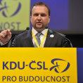 Volebn� sjezd KDU-�SL 23. kv�tna v Kongresov�m centru ve Zl�n�. Ministr zem�d�lstv� Mari�n Jure�ka.