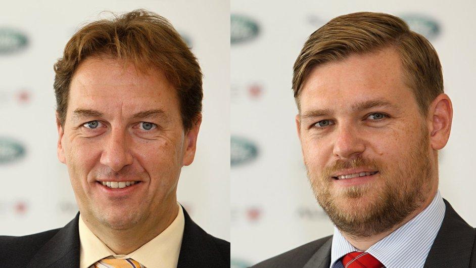 Ivo Řehák, Business Operations Manager pro Českou republiku a Alexander Vyšek, Customer Service Director pro Českou republiku a Rakousko společnosti Jaguar Land Rover Austria.