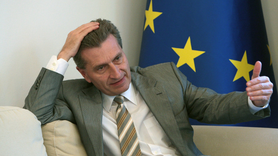 Eurokomisař Günther Oettinger.