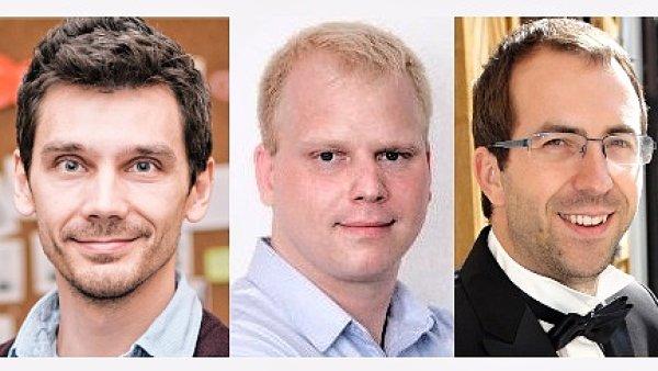 Aleš Černý, Martin Pavlík a Lukáš Marek, finanční on-line služba Zonky