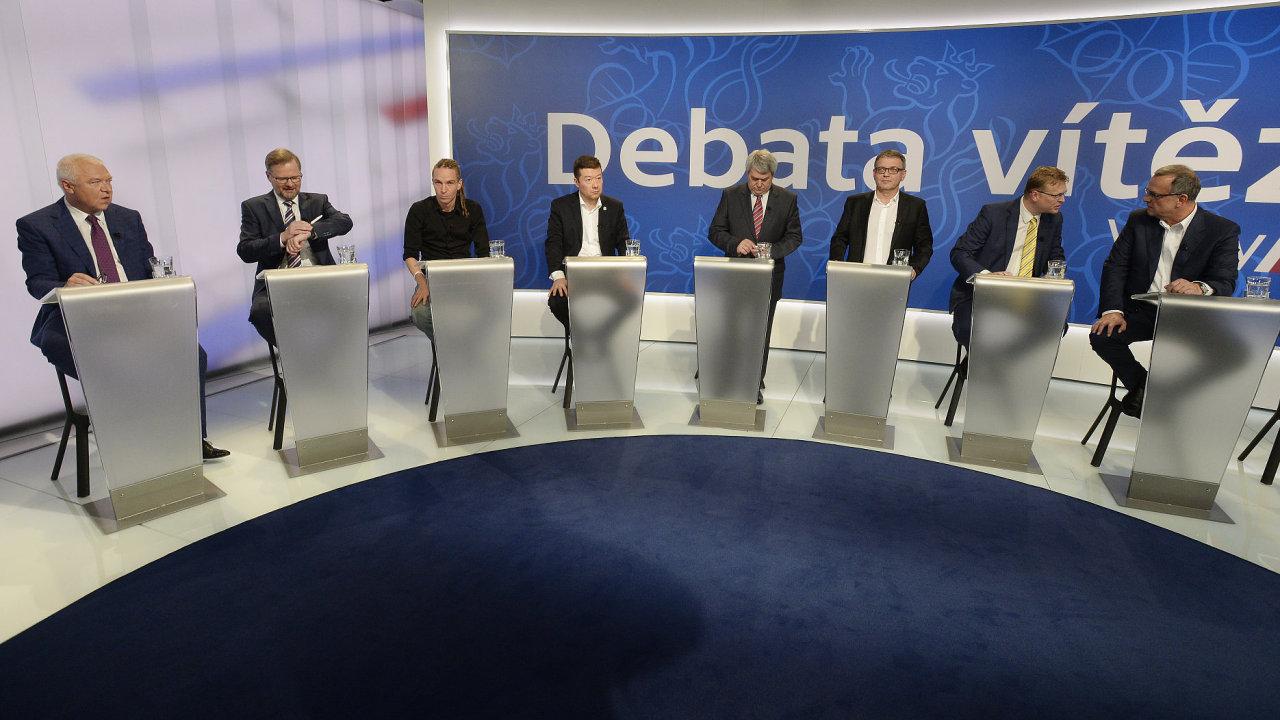 Povolební debata na České televizi.