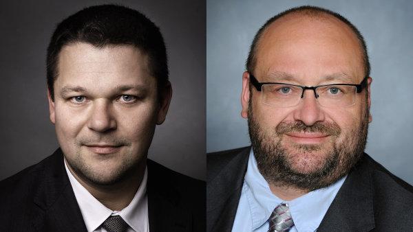 David Mankovický a Pavel Černý, evropské vedení společnosti Konica Minolta