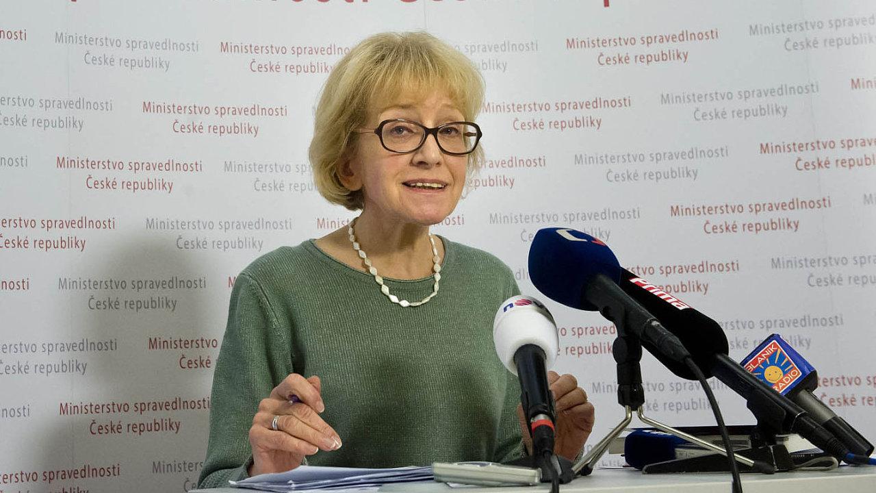 Bývalá ministryně spravedlnosti Helena Válková (ANO).