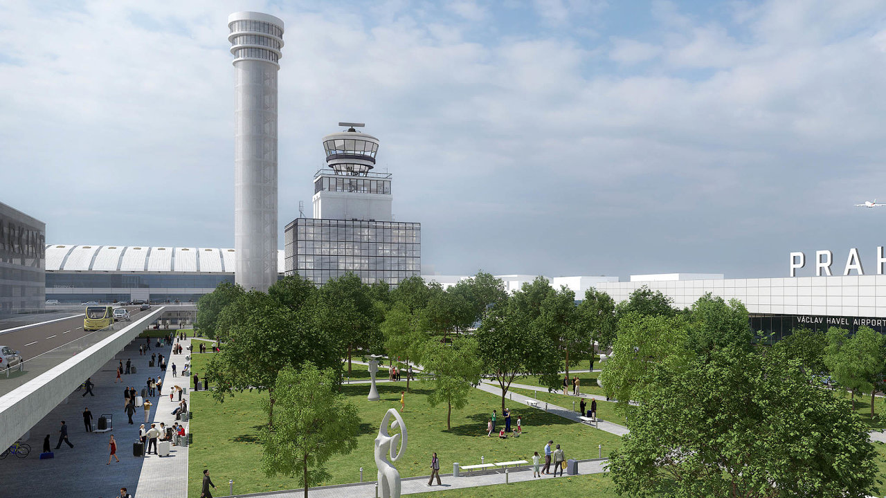 Novou dominantou Letiště Václava Havla Praha se má stát řídicí věž, která bude vysoká 80 metrů.