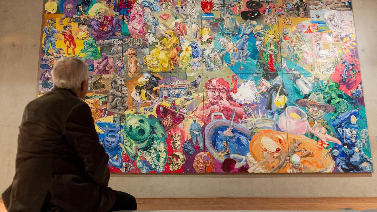 Výstava děl Michaela Rittsteina v Jízdárně Pražského hradu.