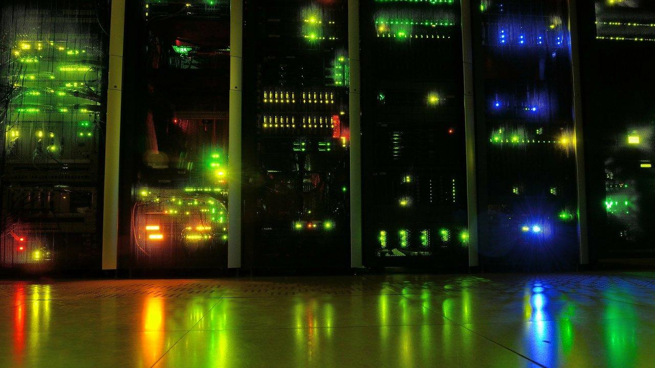 Datové centrum, server, ilustrační foto