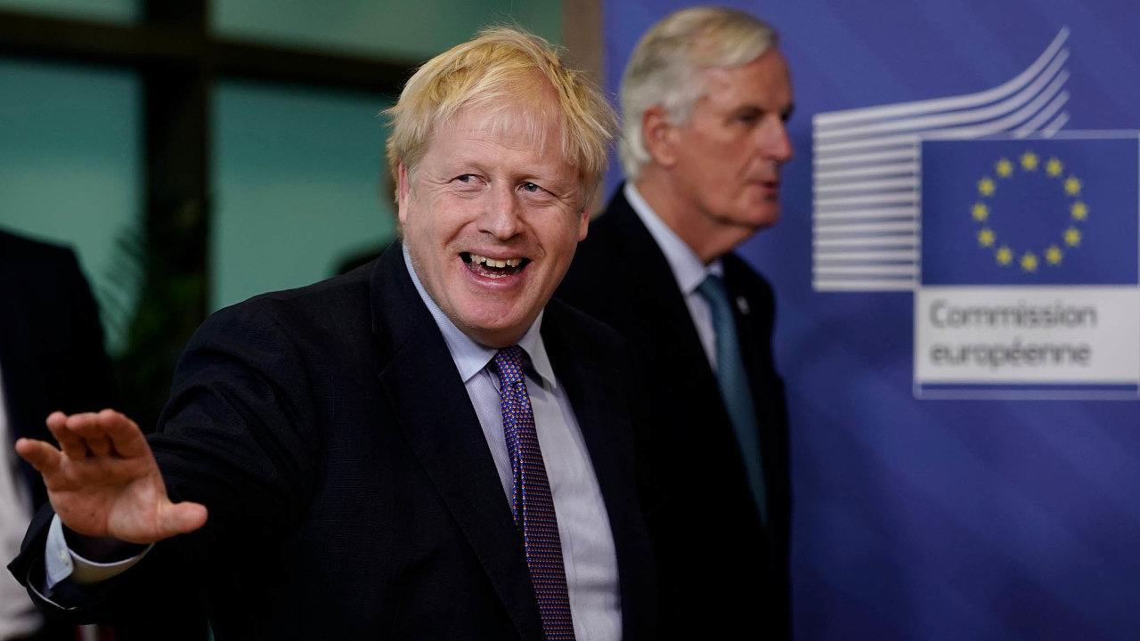 Dohodneme se? Velká Británie aEU začnou obudoucích vztazích jednat už vpondělí (vlevo Boris Johnson, vpravo Michel Barnier).
