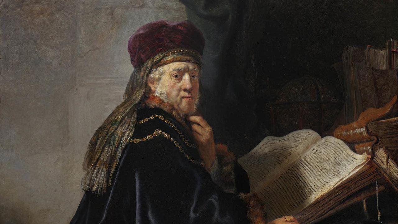 Rembrandt van Rijn, Učenec vpracovně, 1634