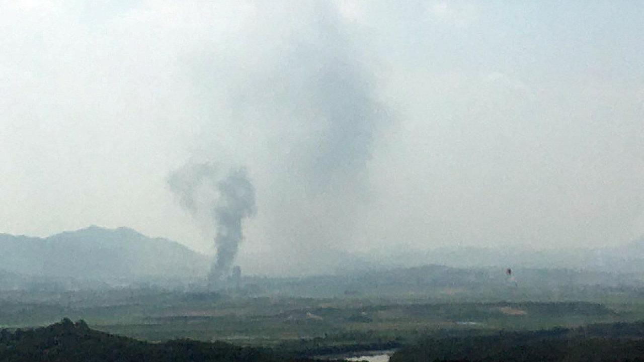 KLDR výbuchem zničila styčný úřad obou korejských států