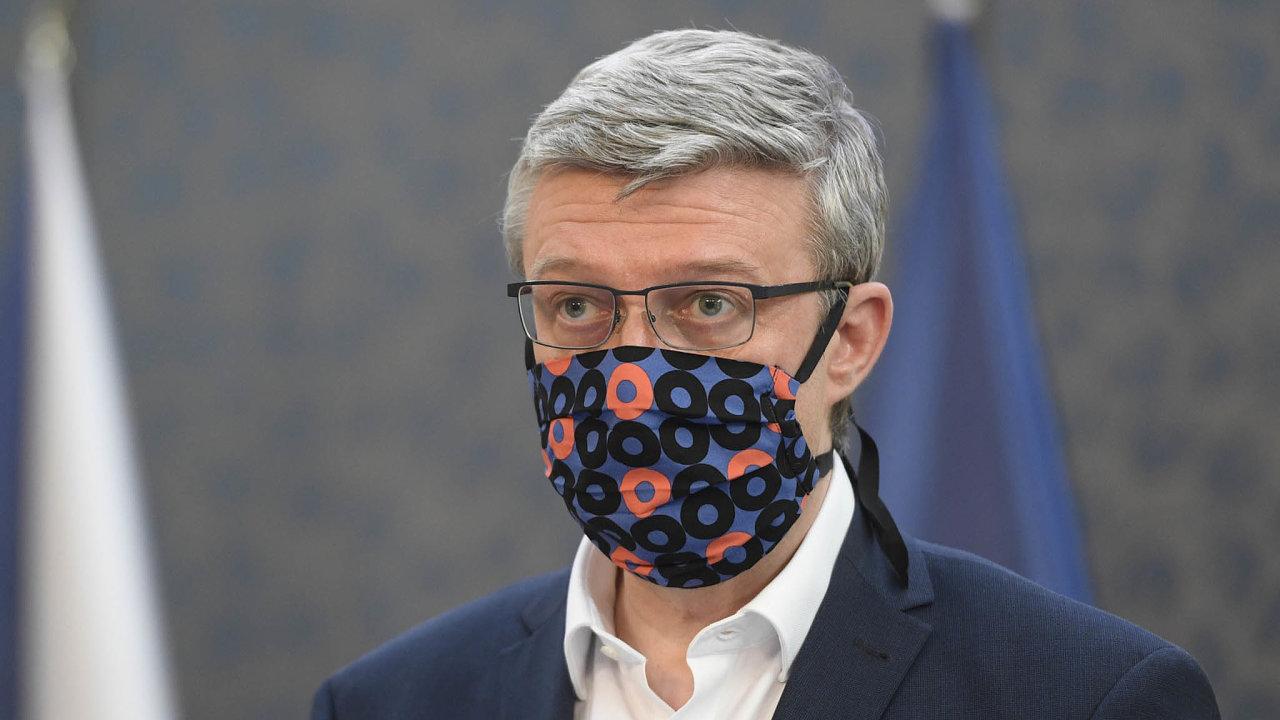 Ministr průmyslu adopravy Karel Havlíček si zhruba třicet souprav barevně sladěných roušek akapesníčků dosaka ponechá i po odeznění pandemie. Jako připomínku na výjimečnou dobu.