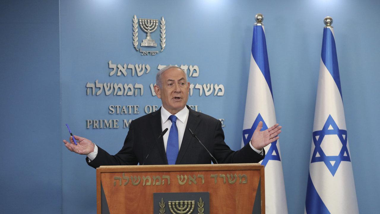 Izraelský premiér Benjamin Netanjahu oznamuje dohodu o navázání diplomatických styků se Spojenými arabskými emiráty.