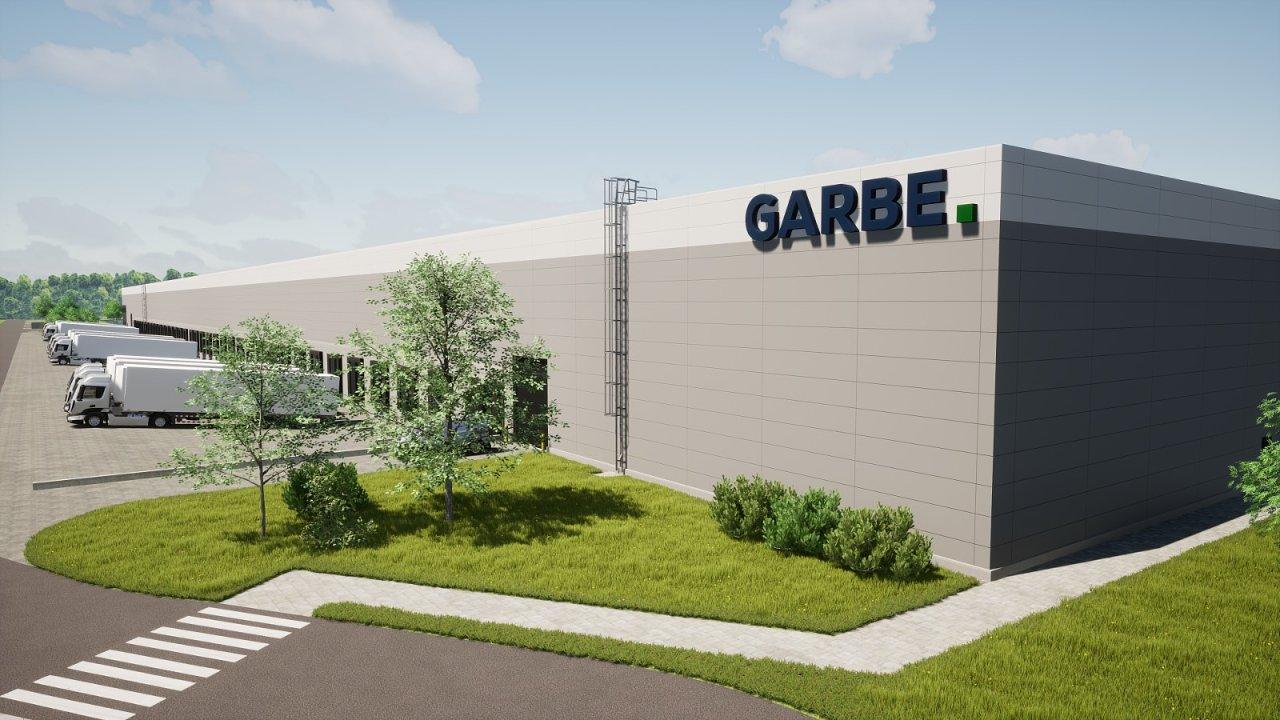 Vizualizace budoucí podoby haly Garbe v Chomutově.